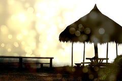 Silhouet van plattelandshuisje Stock Foto