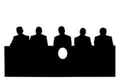 Silhouet van politici Royalty-vrije Stock Afbeeldingen