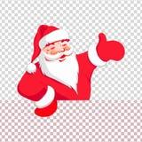 Silhouet van Santa Claus-hand die richting richten royalty-vrije illustratie