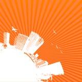 Silhouet van stad. Vector vector illustratie