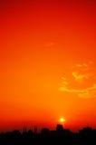 Silhouet van stedelijke horizon Royalty-vrije Stock Afbeeldingen