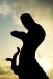 Silhouet van t-Rex Royalty-vrije Stock Foto