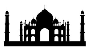 Silhouet van Taj Mahal vector illustratie