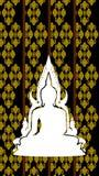 Silhouet van Thaise Boedha Royalty-vrije Stock Afbeelding