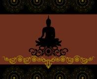 Silhouet van Thaise Boedha Royalty-vrije Stock Afbeeldingen