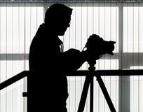 Silhouet van video en fotografisch materiaal royalty-vrije stock fotografie