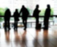 Silhouet van vijf mensen Royalty-vrije Stock Afbeelding