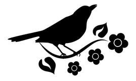 Silhouet van vogel Royalty-vrije Stock Afbeelding