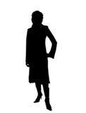 Silhouet van vrouwen Royalty-vrije Stock Foto