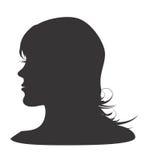 Silhouet van womanshoofd Royalty-vrije Stock Foto's