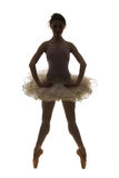 Silhouetballetdanser Royalty-vrije Stock Fotografie