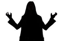 Silhouete του μελαχροινού μάγου Στοκ φωτογραφίες με δικαίωμα ελεύθερης χρήσης