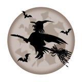 Silhouete de sorcière Image libre de droits