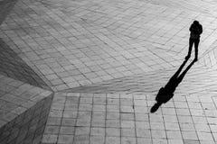 silhouete för skugga 3d Arkivfoto
