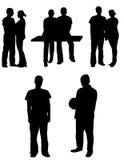 Silhouetes ludzie Obraz Royalty Free