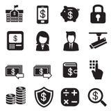 Silhouetgeld, financiën, bankwezen, het bankwezen van Investeringsinternet Royalty-vrije Stock Afbeelding