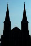 Silhouetkerk van Christus Royalty-vrije Stock Foto
