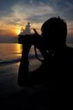 Silhouetmens Stock Afbeeldingen