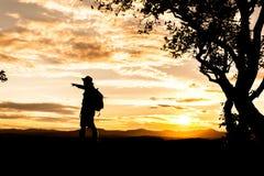 Silhouetmens Royalty-vrije Stock Afbeelding