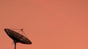 Silhouetsatelliet Royalty-vrije Stock Afbeelding