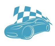 Silhouetsportwagen Stock Afbeeldingen
