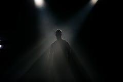 Silhouette à l'étape Photographie stock libre de droits