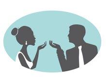 Silhouette élégante de couples Image stock