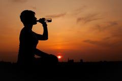 silhouette женщина Стоковое Изображение RF