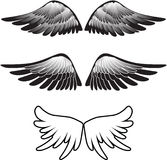 silhouette крыла tattoo Стоковые Фото