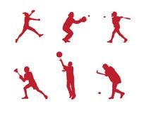 silhouette молодость спортов Стоковые Фото