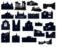 Silhouette-02 Architecture Stock Images