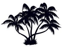 Silhouette 1 de palmiers illustration de vecteur
