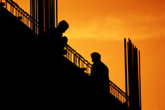silhouette royaltyfria foton