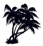 Silhouette 2 de palmiers Image libre de droits