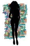 silhouette Fotografering för Bildbyråer
