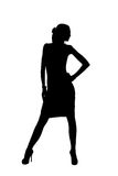 Silhouette. Of a beautiful woman Royalty Free Stock Photography
