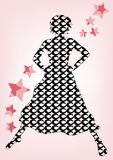 Silhouette. A illustration of a woman's silhouette vector illustration