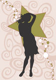 Silhouette. A illustration of a woman royalty free illustration