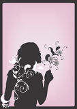 Silhouette. A  illustration of a female silhouette Royalty Free Stock Images