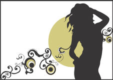 Silhouette. A illustration of a female silhouette stock illustration