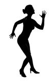 silhouette Royaltyfri Bild
