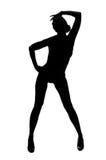 silhouette Royaltyfria Bilder