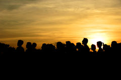 silhouette Royaltyfri Foto