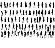 Silhouette. Women Collection -80 silhouette, vector work Royalty Free Stock Image