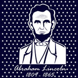 Silhouette Abraham Lincoln Images stock