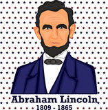 Silhouette Abraham Lincoln Image stock
