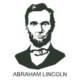 Silhouette Abraham Lincoln. 16th President of the United States Royalty Free Stock Photo