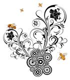Silhouette abstract flower royalty free illustration