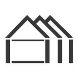 Silhouette abstract silhouette apartments icon Royalty Free Stock Images