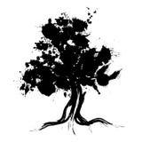 Silhouette abstraite d'arbre Image libre de droits